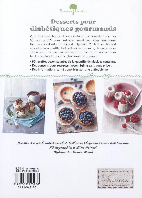 Desserts pour diabétiques gourmands dos